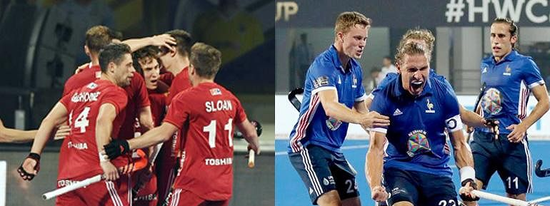 England and France book quarter-final tickets in Hockey Men's World Cup