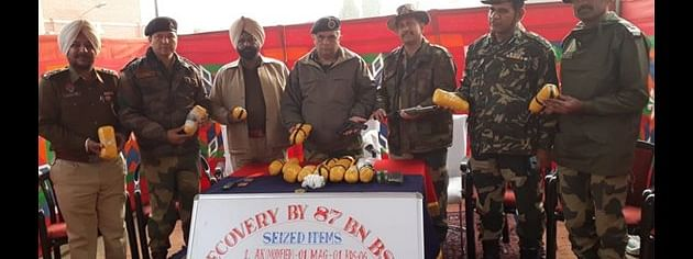BSF seizes 17 kg heroin, two pistols from Punjab border