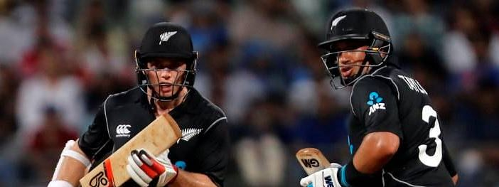 India need 244 to win; Ross Taylor, Latham guide New Zealand to a competitive score