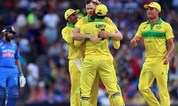 Australia defeat India by 34 runs in first ODI, Rohit Sharma's ton goes in vain