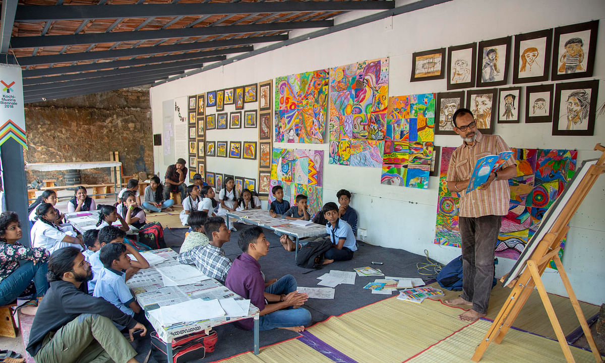 Picture books are tool for social cause, says illustrator Venki at Biennale