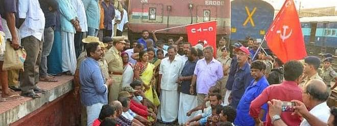 Buses off roads in Kerala, trains picketed in 48-hour stir; shops stay open