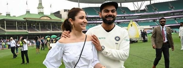 Anushka accompanies Virat on Victory Walk