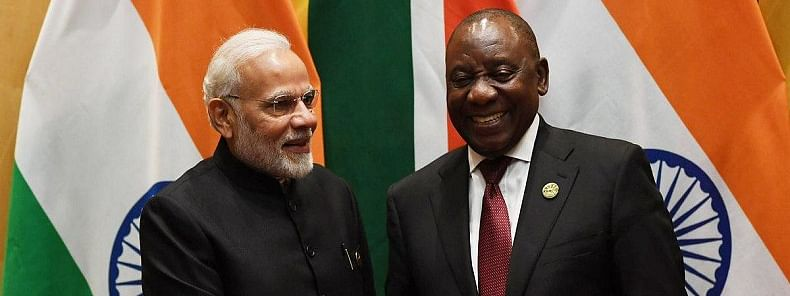 South African Prez Ramaphosa arrives, he will be chief guest at R-Day parade