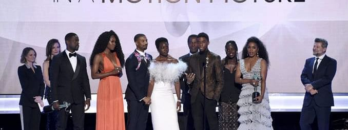 """""""Black Panther"""" wins top film award at 25th Annual Screen Actors Guild Awards"""
