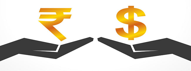 Rupee jumps 22 paise as crude oil prices ease
