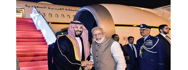 Congress attacks PM Modi for his 'grand welcome' Saudi crown Prince