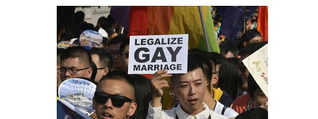 Taiwan's cabinet passes historical bill on same-sex marriages