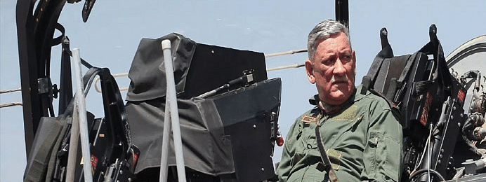 Indian Army Chief Gen Bipin flies on LCA Tejus