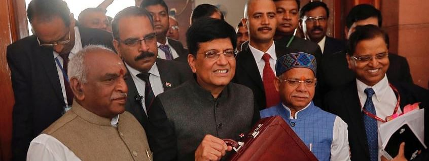 "FM Goyal presents Interim Budget, claims India is ""solidly back on track"""