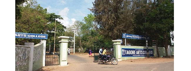 Tagore Arts college students stage protest over professor's 'misbehaviour'