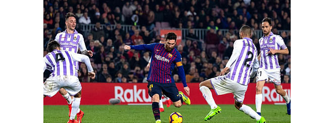 Messi saves Barca from Valladolid