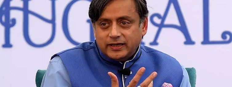 Tharoor says sarcastic comment was on himself
