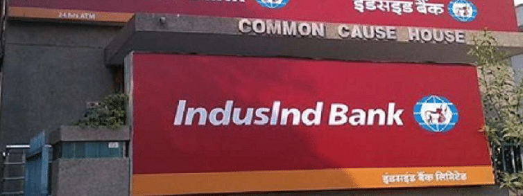 Indusbank up by 4.15 pc to Rs 1636.25