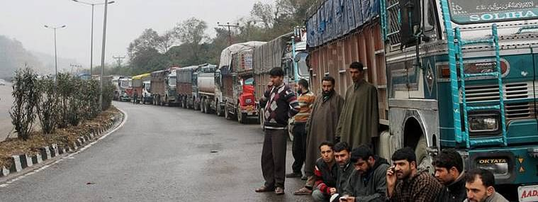 Kashmir highway reopens partially, only stranded vehicles allowed to ply