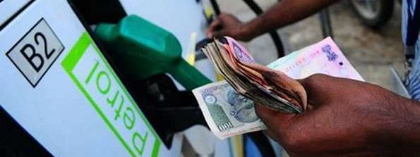 Petrol rates increases for the third day on Saturday