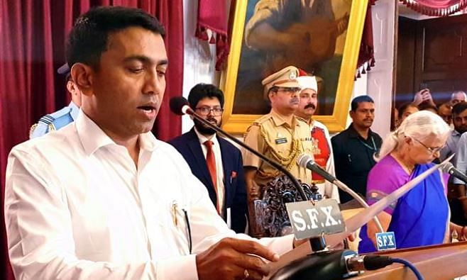 Dr Pramod Sawant sworn-in as Goa CM in the wee hours