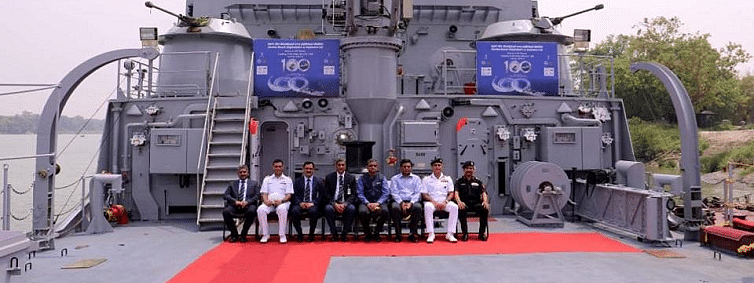 GRSE hands over 100th ship to Indian Navy
