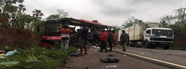 At least 70 killed as 2 buses collide in Ghana