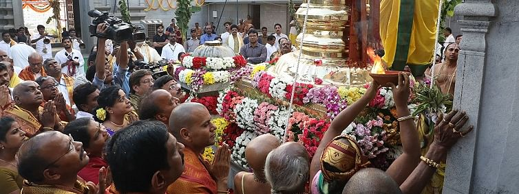 Sri Venkaswara temple opens in Hyderabad on a ceremonial note