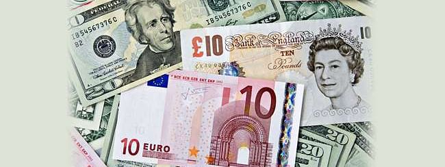 USD up; Pound and Euro down