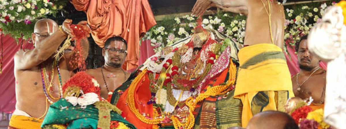 Celestial wedding of Lord Rama with Sita was performed in Telangana
