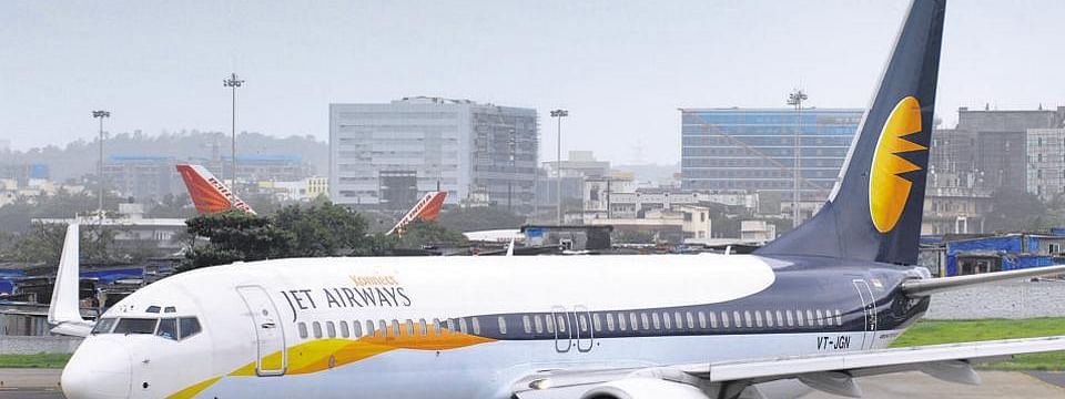 About 1000 Jet Airways employees stage silent march