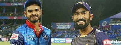 Delhi Capitals win toss and send Kolkata to bat first at Eden