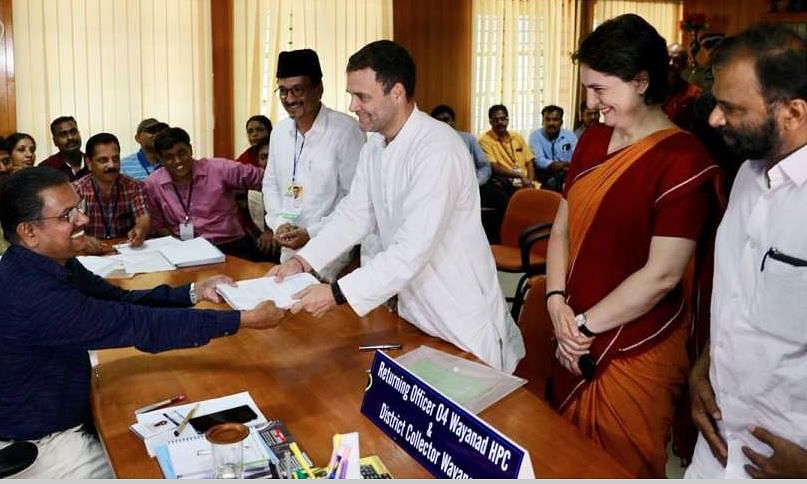 Rahul files nomination from Wayanad ; Priyanka also present