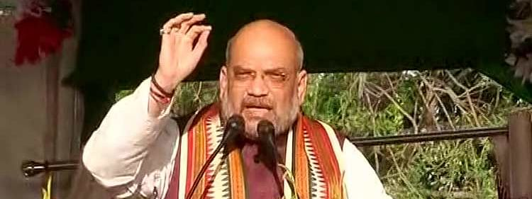 Naveen shielding mining and chit fund scam lootera: Amit Shah