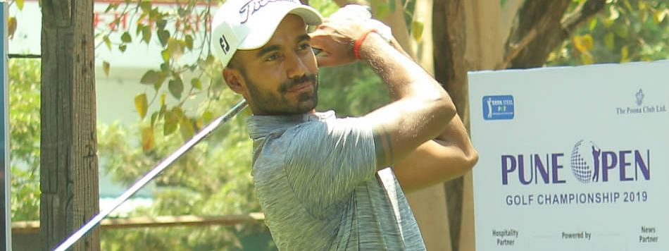 Samarth Dwivedi matches course record with a staggering 63 in round one of Pune Open