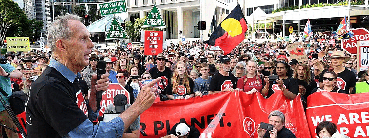 Canberra climate action rally: It is up to us to stop Adani, says Bob Brown