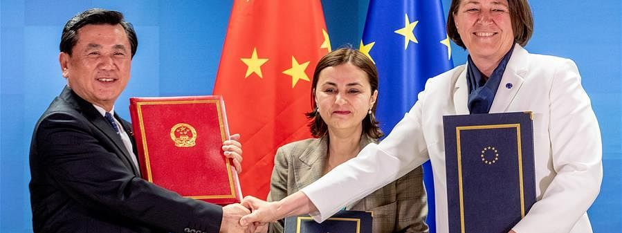 EU signs aviation agreements with China