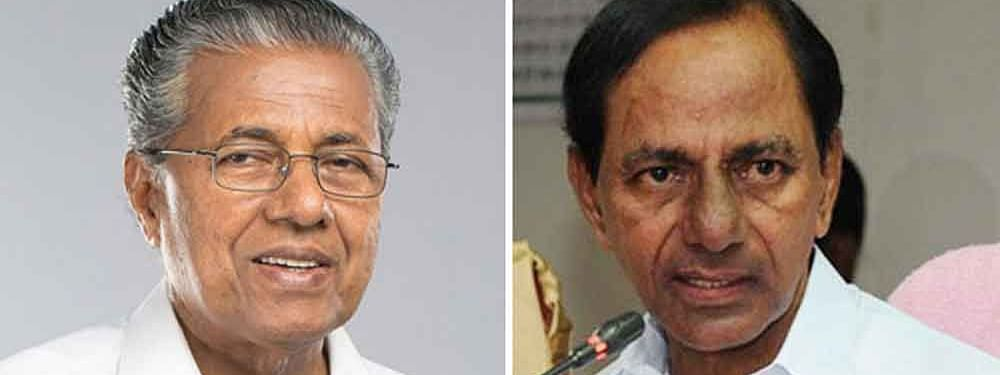 Telangana CM leaves for Kerala to meet Pinarayi