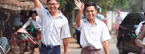 2 Reuters journalists released from Myanmar jail after 500 days