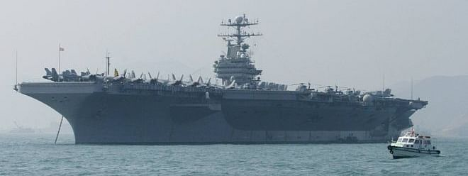 US sends aircraft carrier and bomber task force to 'warn Iran'