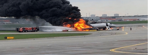 Plane fire in Moscow claims 41 lives