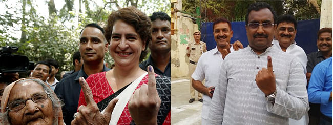 Delhi LG, Priyanka Gandhi, Ram Madhav cast their votes