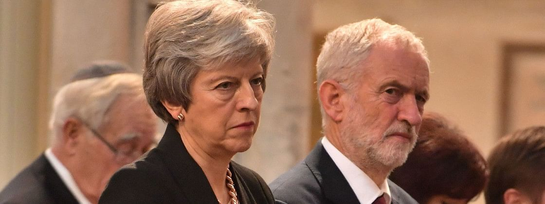 Theresa May urges Jeremy Corbyn to do a Brexit deal