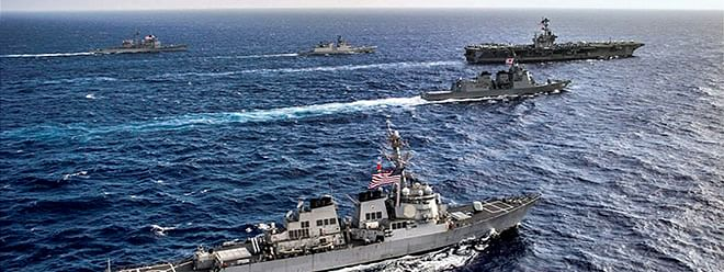 """Indo-French naval exercise """"Varuna"""" sea phase intensifies on 2nd day"""