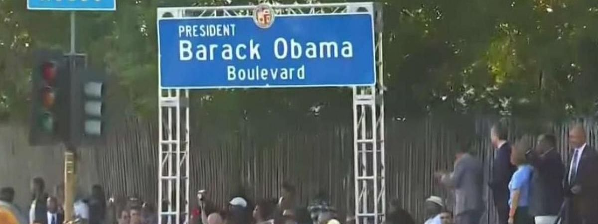 Obama Boulevard officially opens in Los Angeles