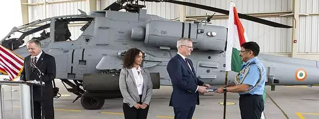 IAF gets its first Apache attack helicopter