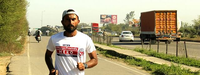 Ultra-marathoner Dharmendra aims to raise funds to feed five lakh meals