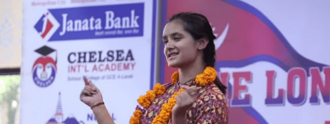 Nepal PM honours girl who danced for record 126 hrs