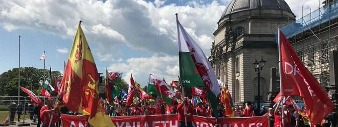 Thousands took to Cardiff streets for Welsh independence
