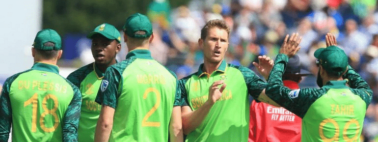 South Africa restrict Lanka at 203