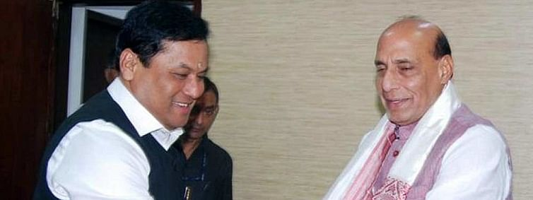 Sonowal meets Rajnath for armed forces training institute in Assam