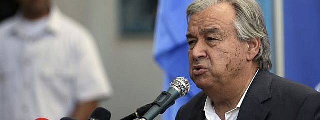Palestine refugee agency promotes UN values: Guterres