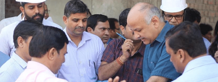 Sisodia visits 5 Delhi Govt schools; reviews construction of classrooms