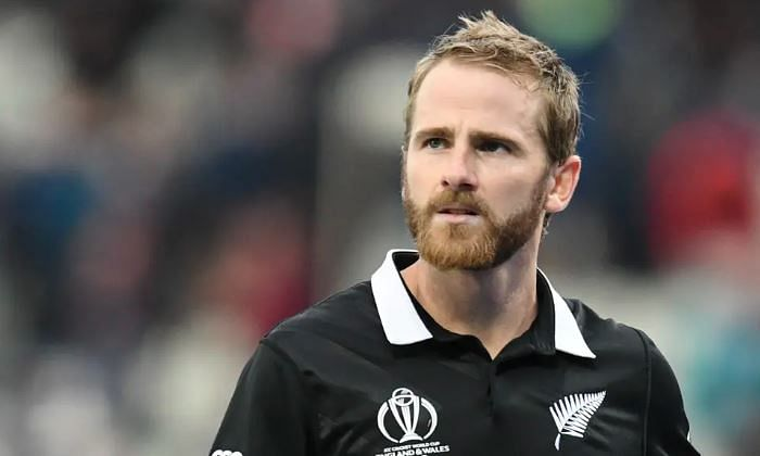 New Zealand captain Kane Williamson falls